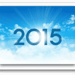 The sun rising on the year 2015