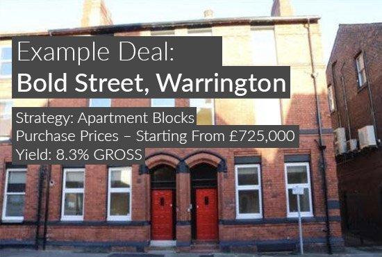 property investment example, Bold Street, Warrington