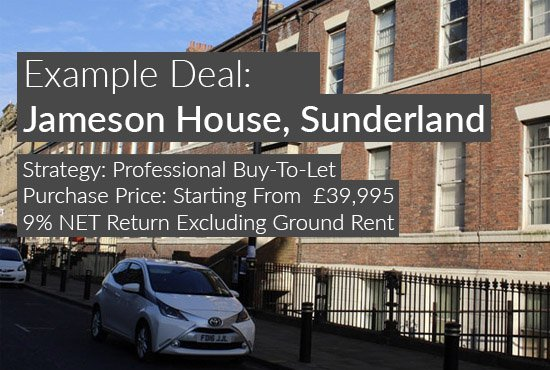 property investment example, Jameson House, Sunderland