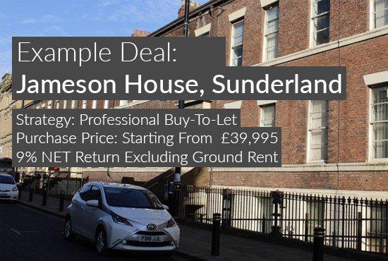 property investment example, Jameson House, Sunderland