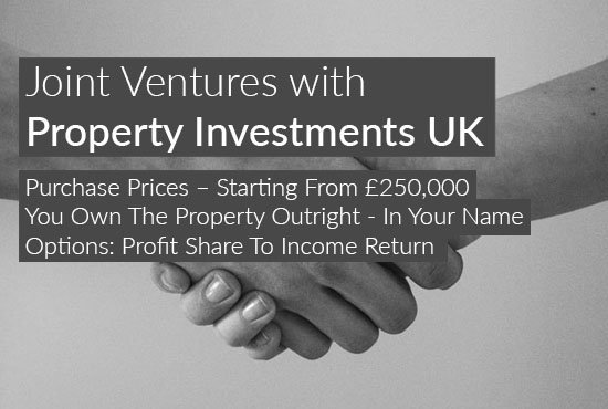 real estate investment opportunities with Property Investments UK. Property joint venture opportunity