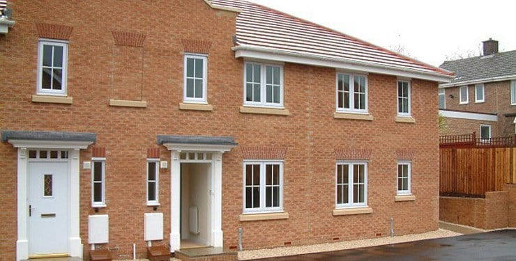 housing association new build in North Wingfield