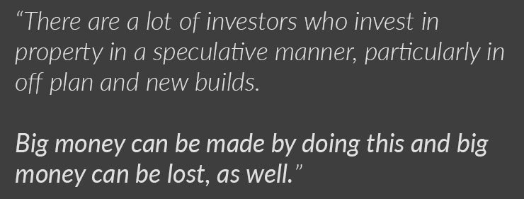 specualtive investing. off plan investments