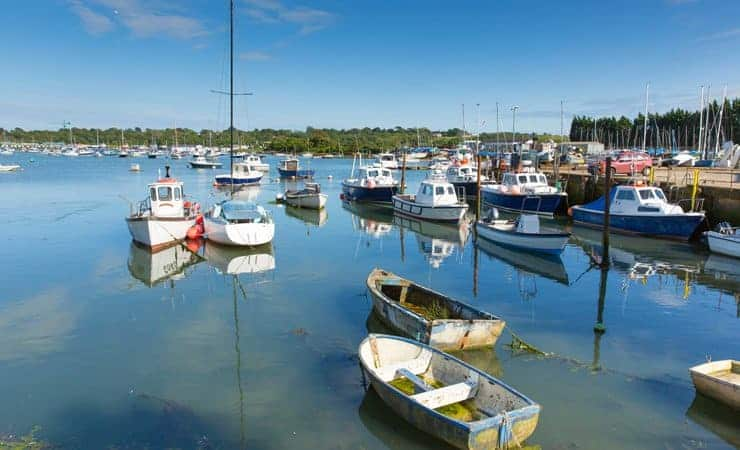 A photo of Bembridge Harbour on the Isle of Wight