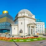 A photo the Hall of Memory, the Library of Birmingham and Baskerville House