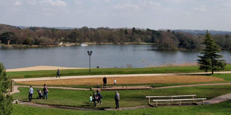 Photo of Trentham Gardens, a tourist attraction located on the southern fringe of the city of Stoke-on-Trent in Staffordshire