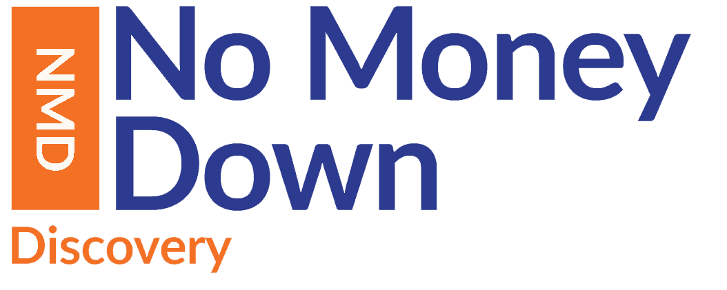Logo for the No Money Down Discover Day, property investment course from Progressive Property