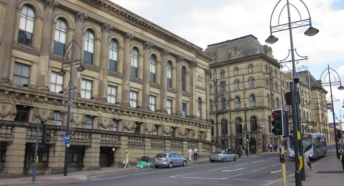 A Photograph of a street in Leeds City Centre