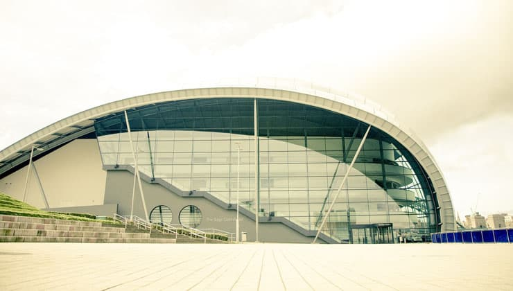 Photograph of The Sage, a music centre in Gateshead