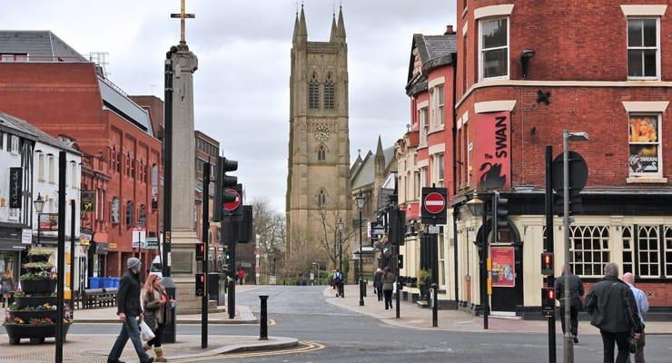 A photograph of Bolton Town Centre