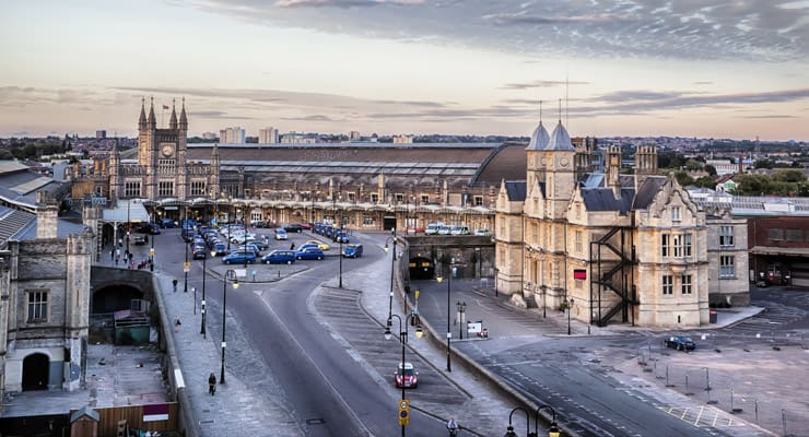 Photograph of Bristol Station Square - Temple Meads