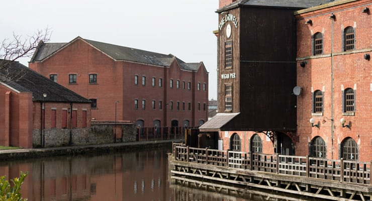 Wigan Pier and the Orwell Pub