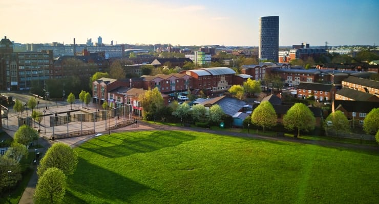 A photograph of Bede Park in Leicester