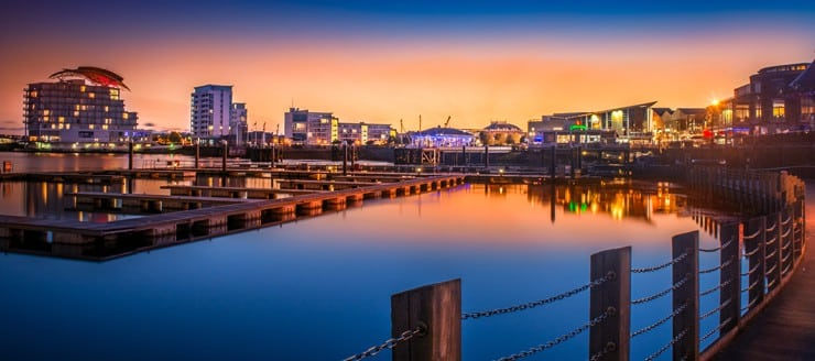 Cardiff Bay at Sunset