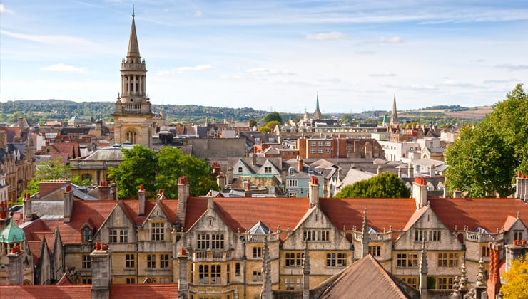 Oxford viewed from  St. Mary the Virgin Church