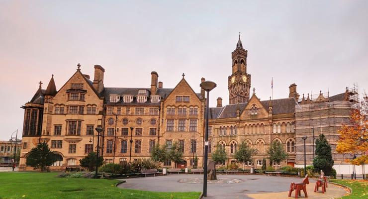 A photograph of Bradford City Hall,