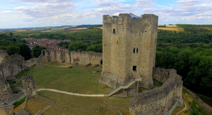 Photograph of Conisbrough Castle in South Yorkshire