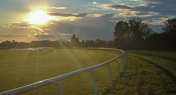 Sunset on Doncaster Racecourse