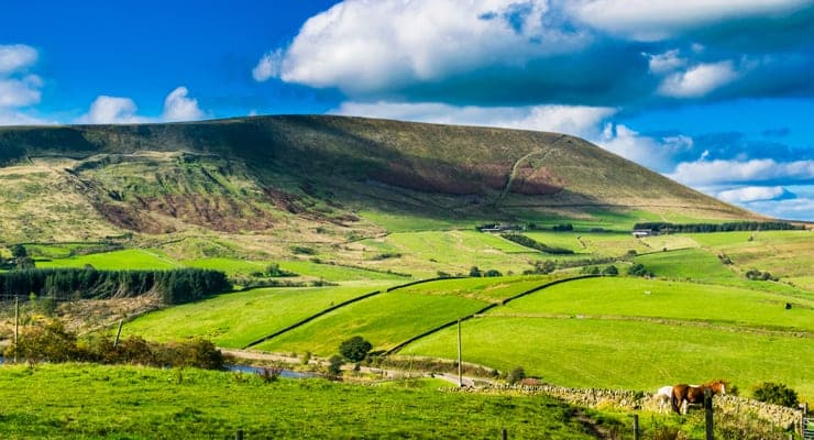 Photograph of Pendle Hill, Forest of Bowland