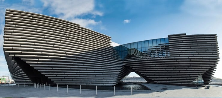 Photograph of the V&A Museum of Design in Dundee, Scotland