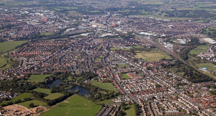 An aerial photograph of the City of Carlisle