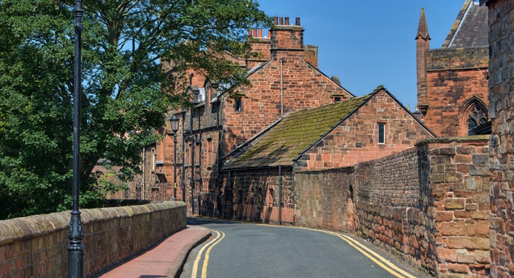 A photograph of the West Walls of Carlisle