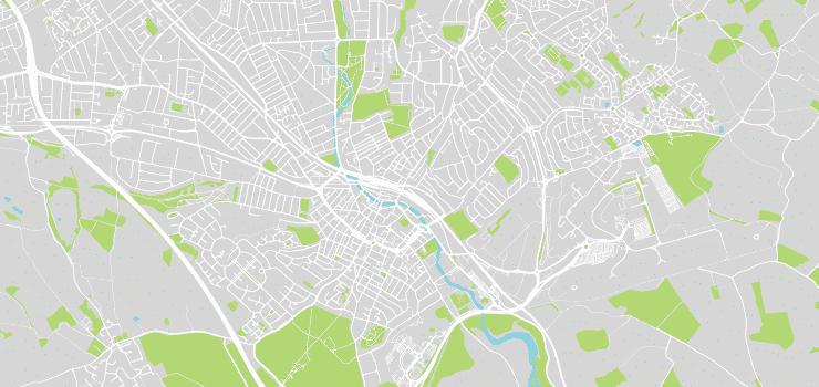 Luton, Vector Map