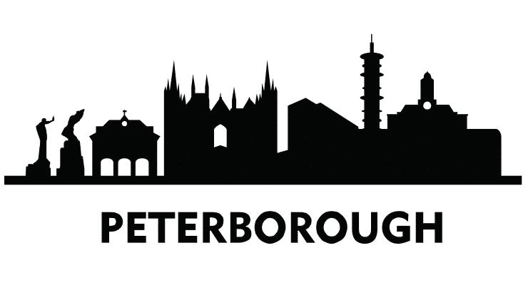 Peterborough Skyline, Line Drawing