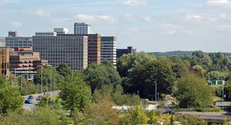 Office blocks in the centre of Basingstoke, Hampshire, UK
