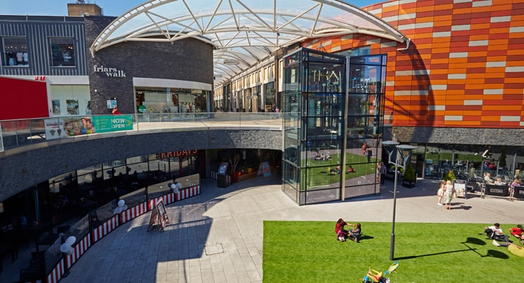 An elevated view of Fryers Walk in Newport, Wales