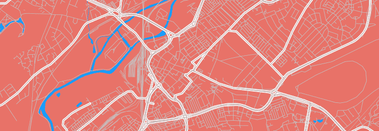 A vector map of the centre of Doncaster