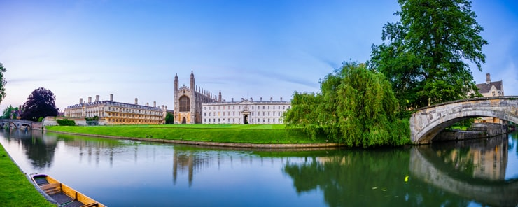 Clare & King's College across the water in Cambridge