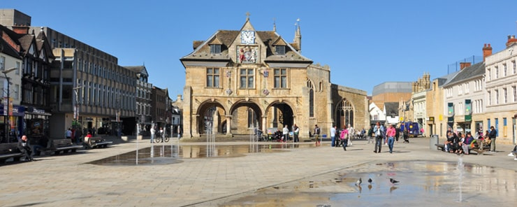 Guildhall, Cathedral Square, Peterborough, Cambridgeshire, England