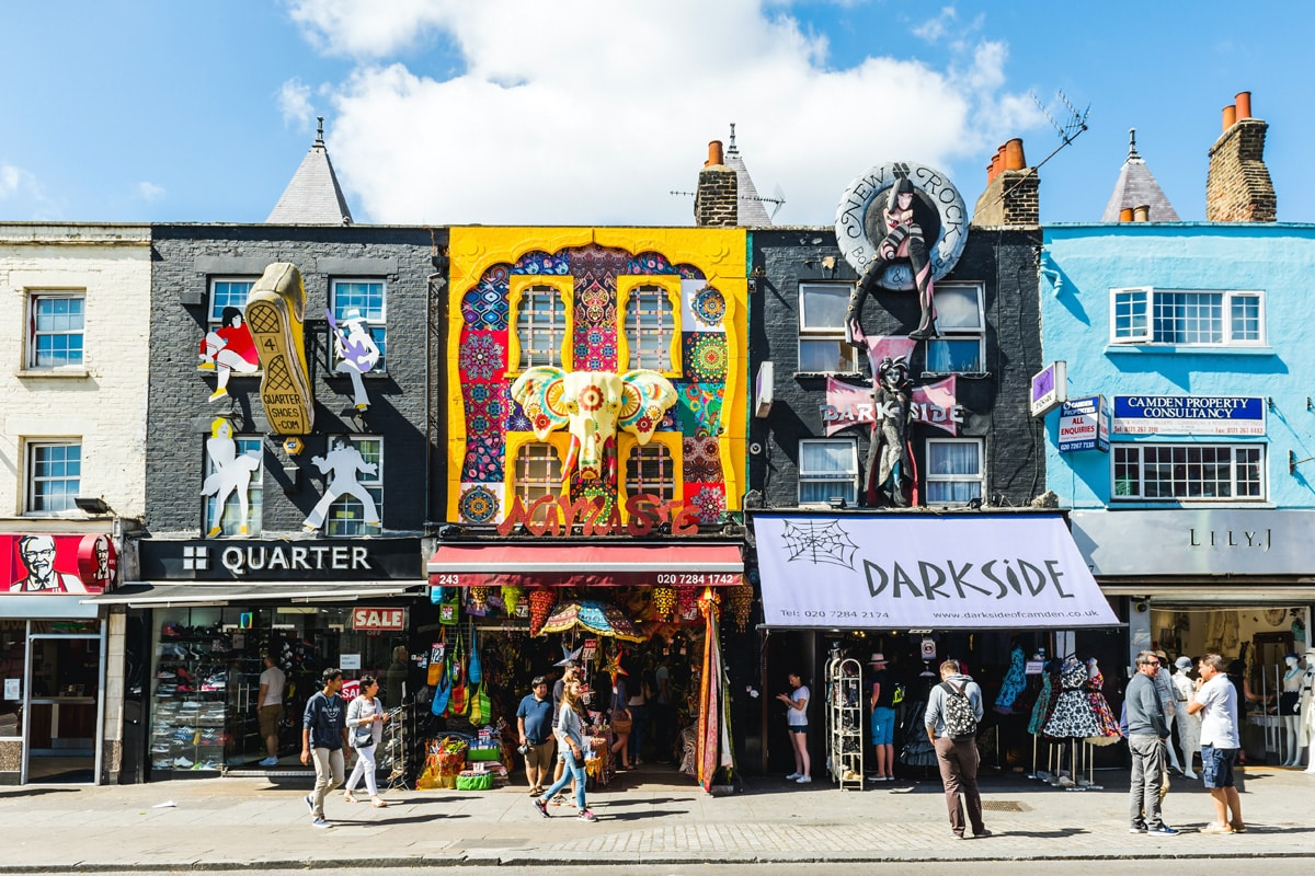 Artistic, creatively adorned, alternative culture shops in Camden Town