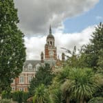 Queen's Gardens, overlooked by the Victorian town hall which houses the headquarters of Croydon City Council