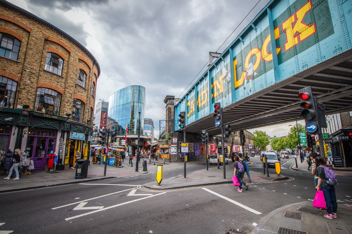 The view of central Camden Lock.