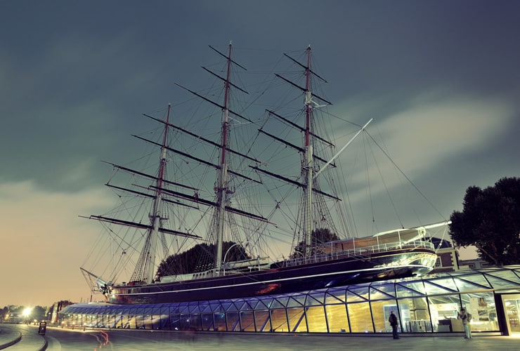The Cutty Sark, ship and museum.