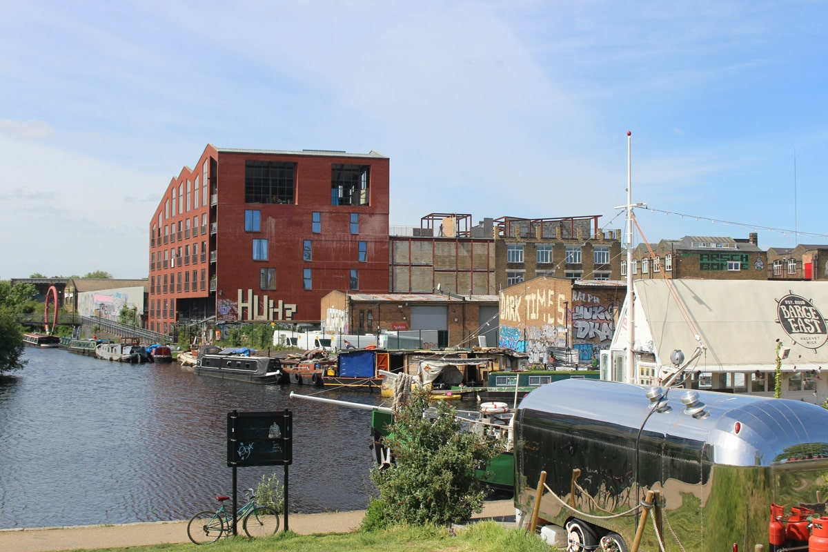 Gentirfied, industrial land next to the River Lea in Hackney Wick.