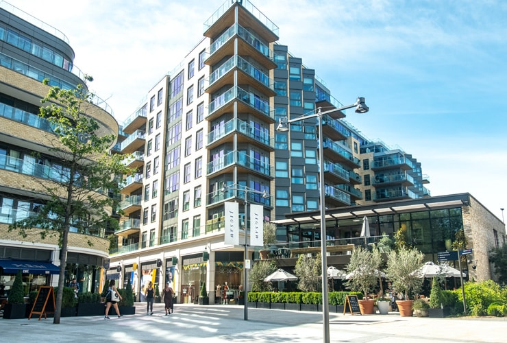 St George Filmworks in Ealing- a large new residential and leisure development.