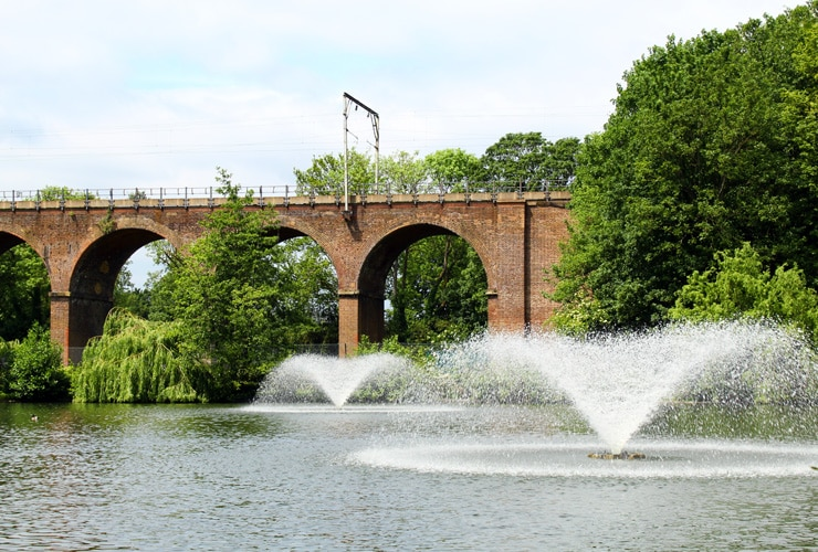A viaduct in Central Park in Chelmsford.