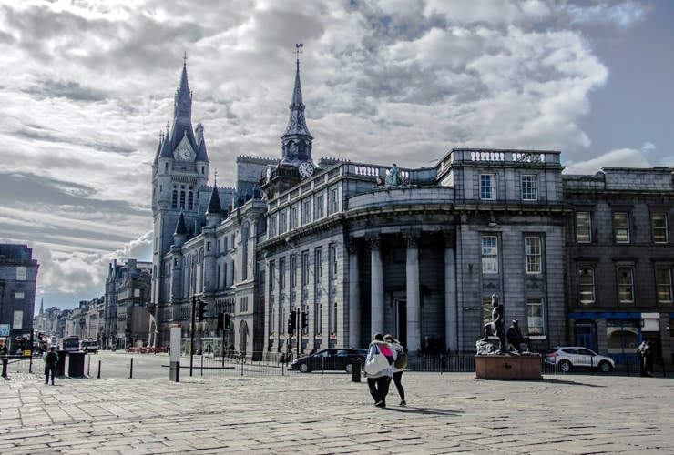 The town house in Aberdeen. A municipal building and home to Aberdeen City Council.