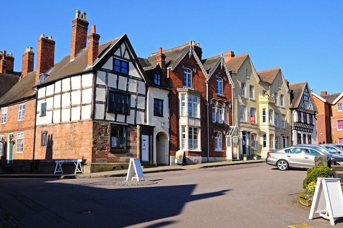 The front of the Erasmus Darwin museum in Cathedral Close, Lichfield.