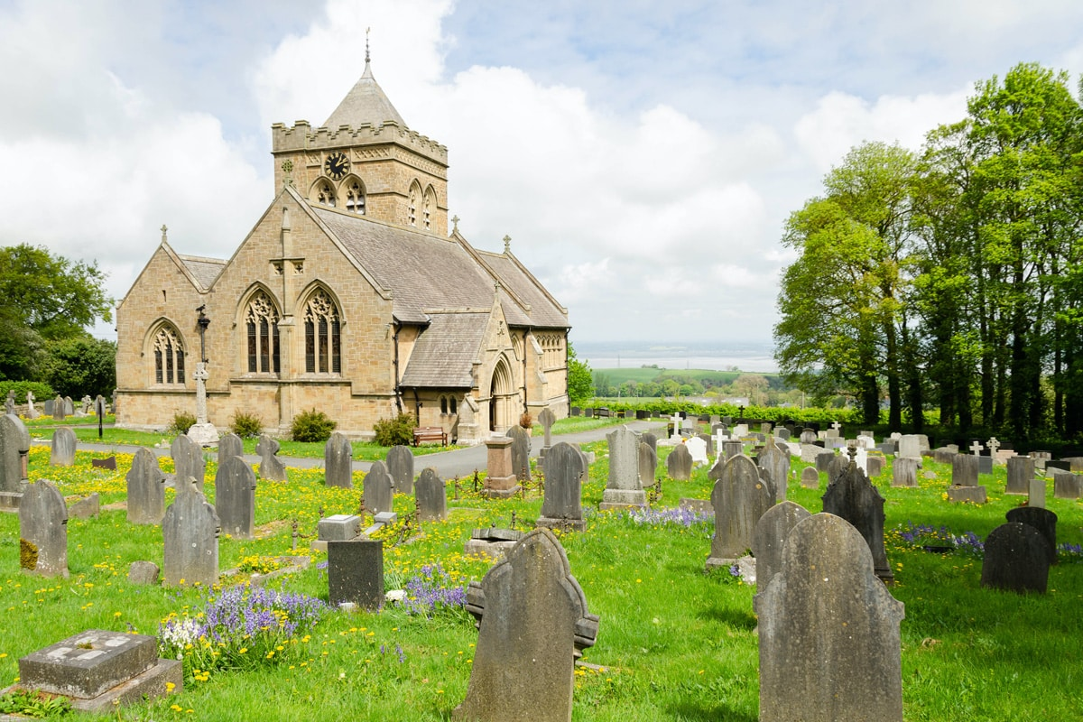 The old church of St. Mary in Halkyn.