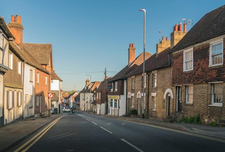 A street view in Seal in Sevenoaks, Kent.