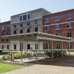 The front of the Swansea Bay Campus. Student accommodation in Swansea.
