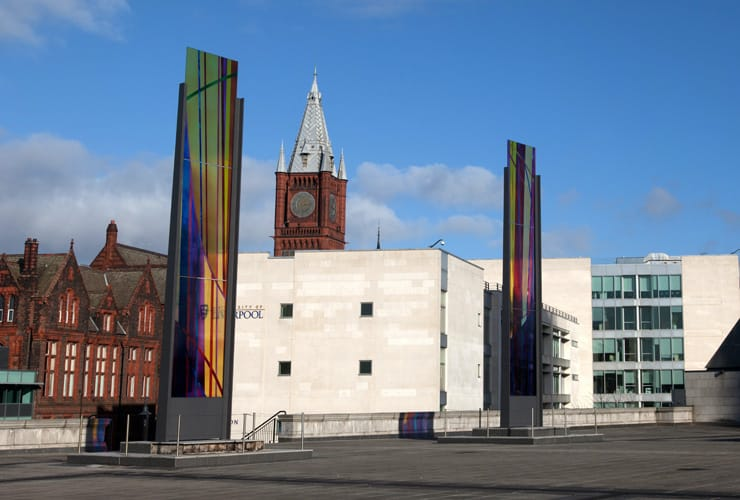 A view of Liverpool University.