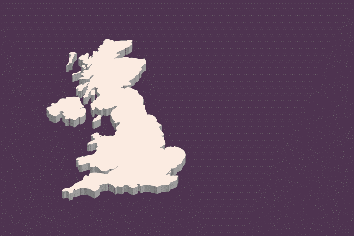 A vecotr image of the United Kingdom.