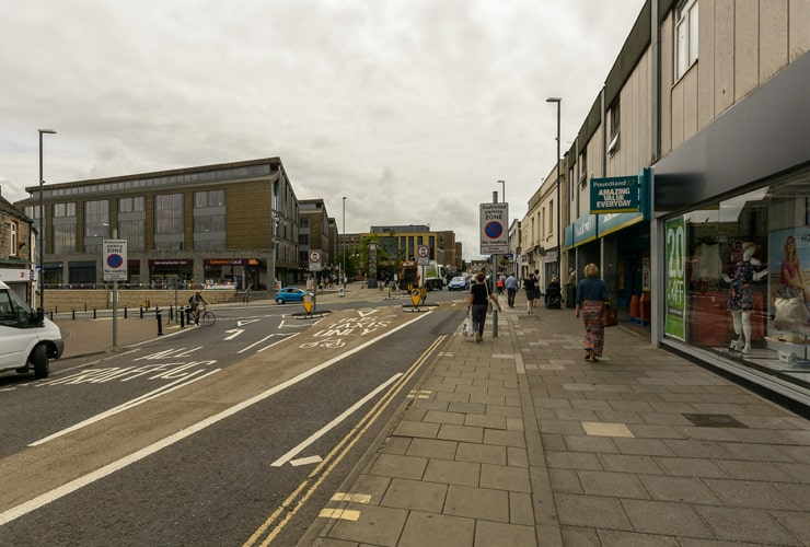 The town centre of Keynsham in Sussex.