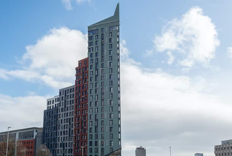 Beckley Point, a tower block for student accommodation in Plymouth.