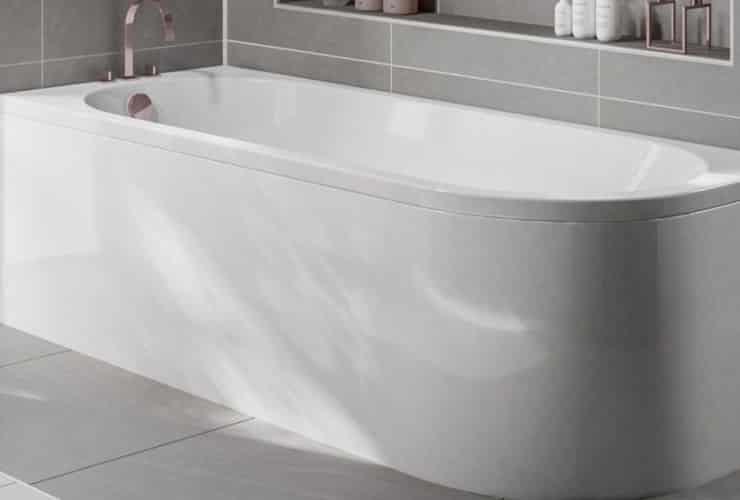 A J-Shaped Bath.